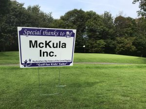 big brothers big sisters mckula inc sponsorship on golf course
