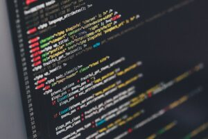 coding on screen