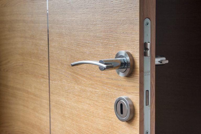door, open, wooden