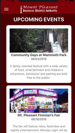 ShopMp App screenshot events